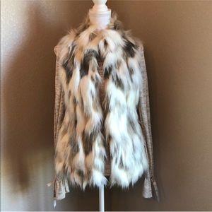 WHBM Faux Fur Vest XS